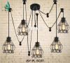 Modern industrial iron cage shade design light lamp