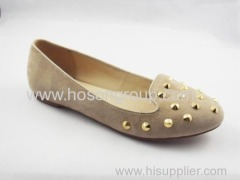 Apricot women flat dress ladies casual shoes with studs
