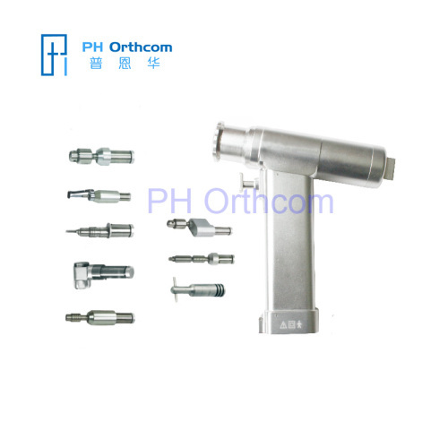 Multifunction Bone Drill One Handpiece with seven Attachments Cannulated Acetabulum reamer Saggital Saw Connectors etc