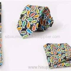 Promotional Woven Ties Printed Pocket Scarves