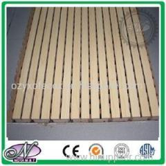 Wood Veneer Laminated 15mm MDF Wood Acoustic Strip Panels
