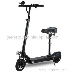 Black adult scooter with seat