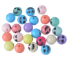 Acrylic beads logo picture words jewelry necklace diy pendants ring earning