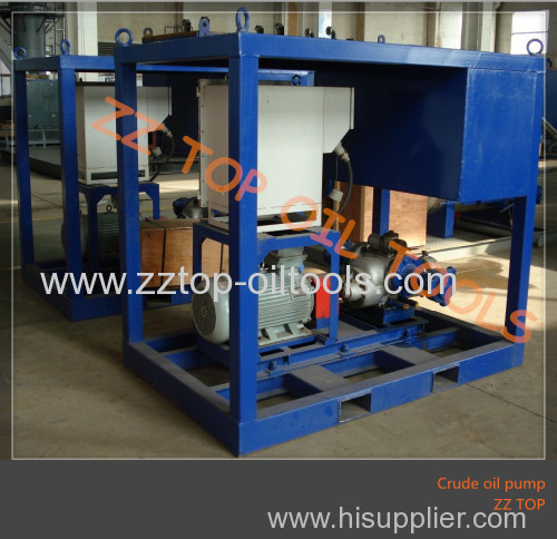 Crude oil transfer pump for well surface test operation