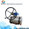 casting WCB 3pc trunnion ball valve