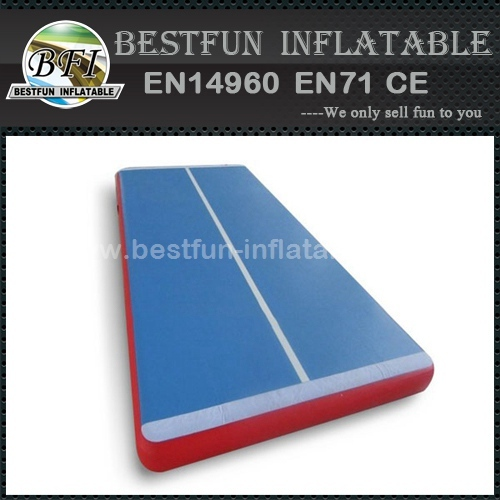 Gym coaching class used inflatable air tumble track landing mats