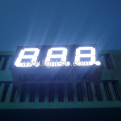 "Ultra bright white 0.28"" 3 digit 7 segment led display common anode for instrument panel"