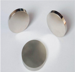 Strong Performance Sintered Neodymium Disc Magnets Axial Nickel Coating