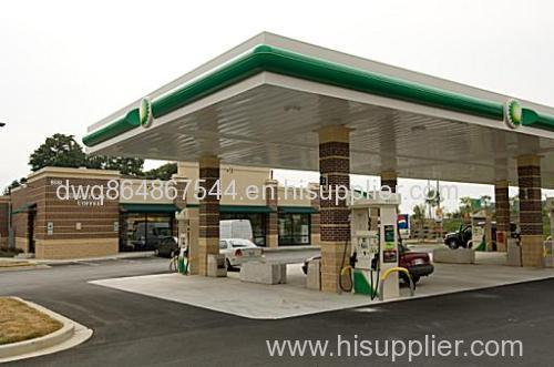 Cost-effective Professional Space Frame gas station