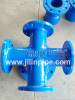 ductile iron pipe fittings gost cross/tee for fire hydrant.