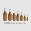 glass oil bottle with insert bamboo bottle body care bottle inside glass 10ml 15ml 30ml 50ml bamboo essential oil bottle