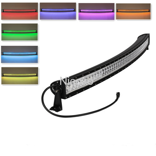 50Inch 288w Offroad led light bars for Truck led warning lights remote control strobe lights Led lights with RGB Halo