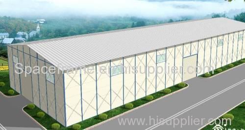 Ecomomic prefabricated steel building steel structure warehouse