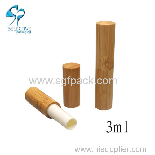 3ml eco empty wood lip balm stick container tube