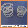 Plastic pall ring for distillation tower filling