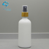 100ml white cosmetic essential olive oil glass bottle with sprayer top