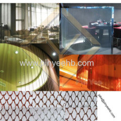 hall use coil mesh curtain space divider