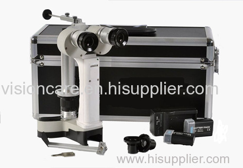White LED Illumination Ophthalmic Handheld Portable Slit Lamp Microscope