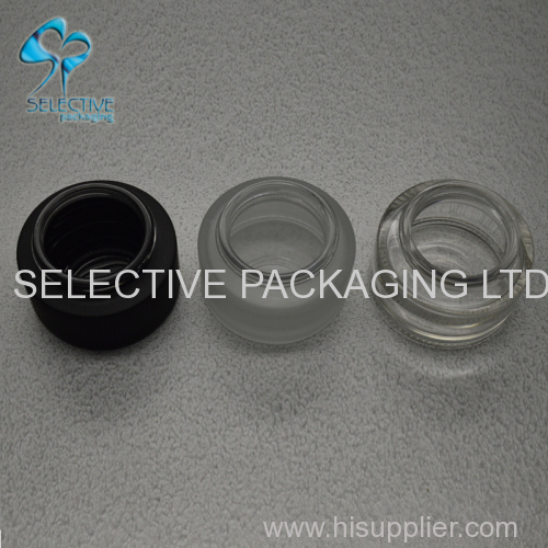 50g clear frosted glass jar with screw top cap wooden lids