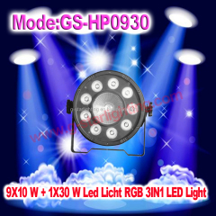 9X10 W + 1X30 W Led Licht RGB 3IN1/4IN1 LED Light/LED Flat par can/DJ lights