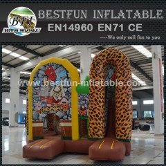 Cheap price stone age inflatable combo slide