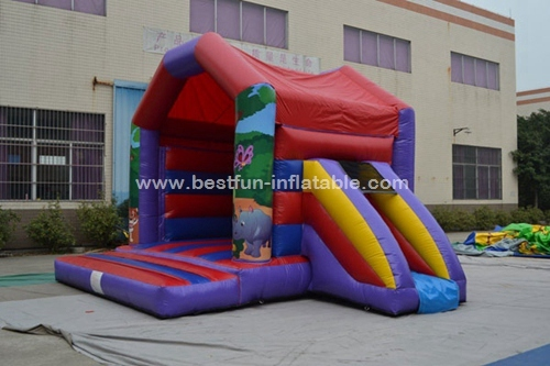 Inflatable Jungle Vinyl Bounce House Moonwalk