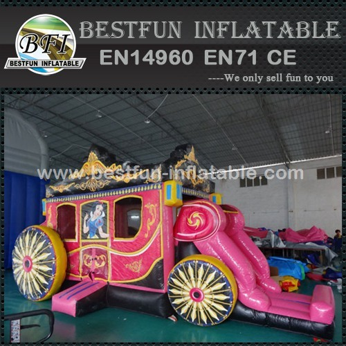 Inflatable Princess Carriage Bounce House Combo