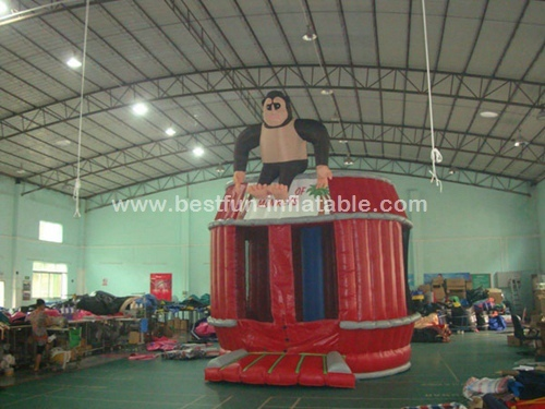 Kids mini inflatable castel inflatable monkey bouncer