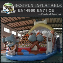Outdoor inflatable stone age multi activity centre