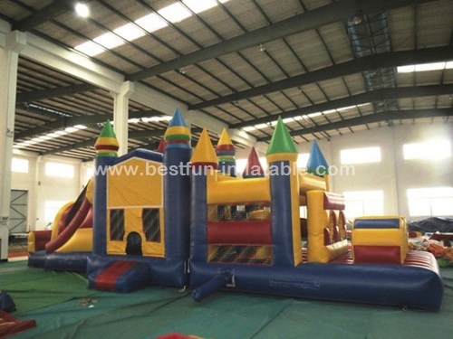 Super Attractive Inflatable bouncy castle with slide
