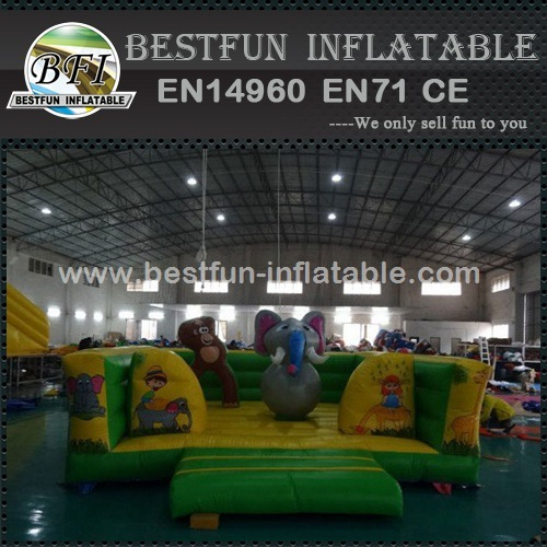 Zoo park inflatable bouncer with ball pit