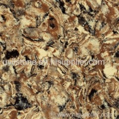 Brown vanity quartz surface interior stone cladding
