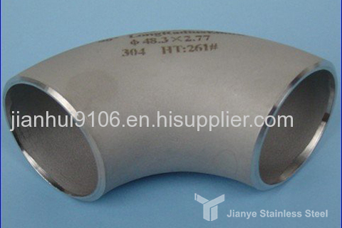 TP304 stainless steel seamless elbow