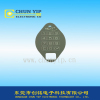 Membrane graphic overlay metal dome switch with sheilding layer