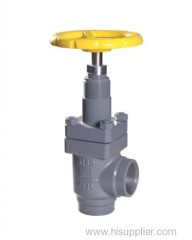 cast steel ammonia globe valve angle type for cold room