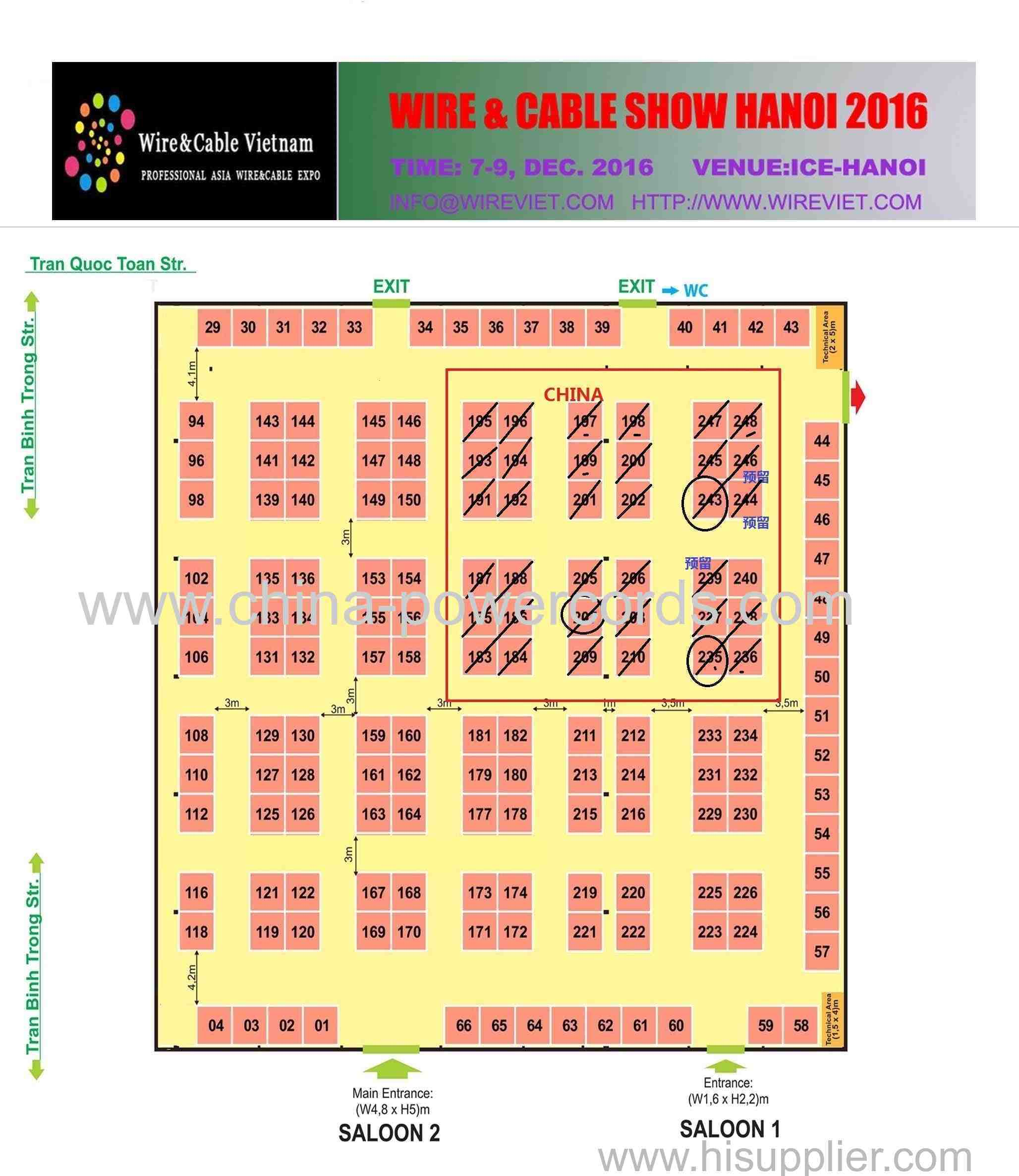 wire and cable show  Hanoi ,Vietnam 2016
