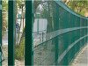 "RAL6005 PVC coated wire mesh fence with ""c"" curves"