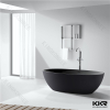 Acrylic solid surface soaking bathtub black freestanding bath
