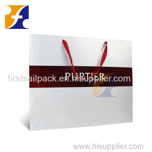 Custom luxury gift packaging paper bag for health products