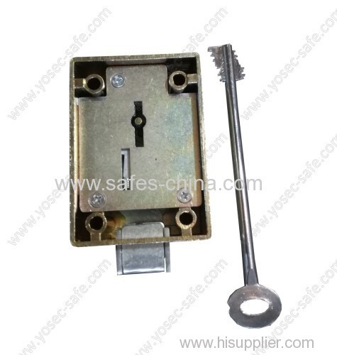8 security lever Mechanical safe lock with iran type double bit key for home and office safe