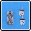 Customized Iron battery contact with two spring on one plate with nickel plated