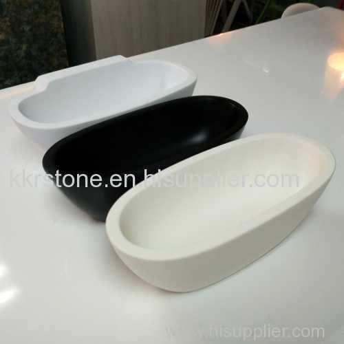 black high quality solid surface bathtub