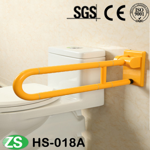 Yellow White Painted Folading Grab Bar