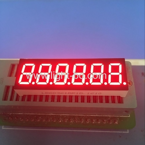 "Super Bright Red 6 -digit 0.36"" anode 7-segment led display for instrument panel"