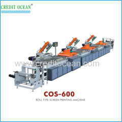 Strip-type Full-computer Colour Register Silk Screen Trademark Printing Machine