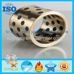 Self lubricating brass graphite bushes Brass graphite bushings Self-lubricating brass/bronze bush with graphite Bushes