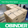 Obinder twin ring wire binding spool customized package