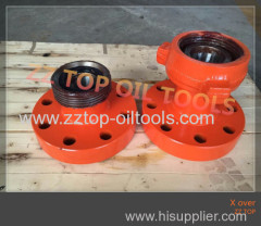"2 9/16"" 5K x 3"" 1502 Wing wellhead X over sub"