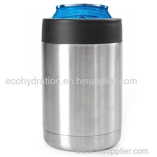 stainless steel vacuum insulated can cooler koozie