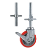 Adjustable scaffold caster wheels